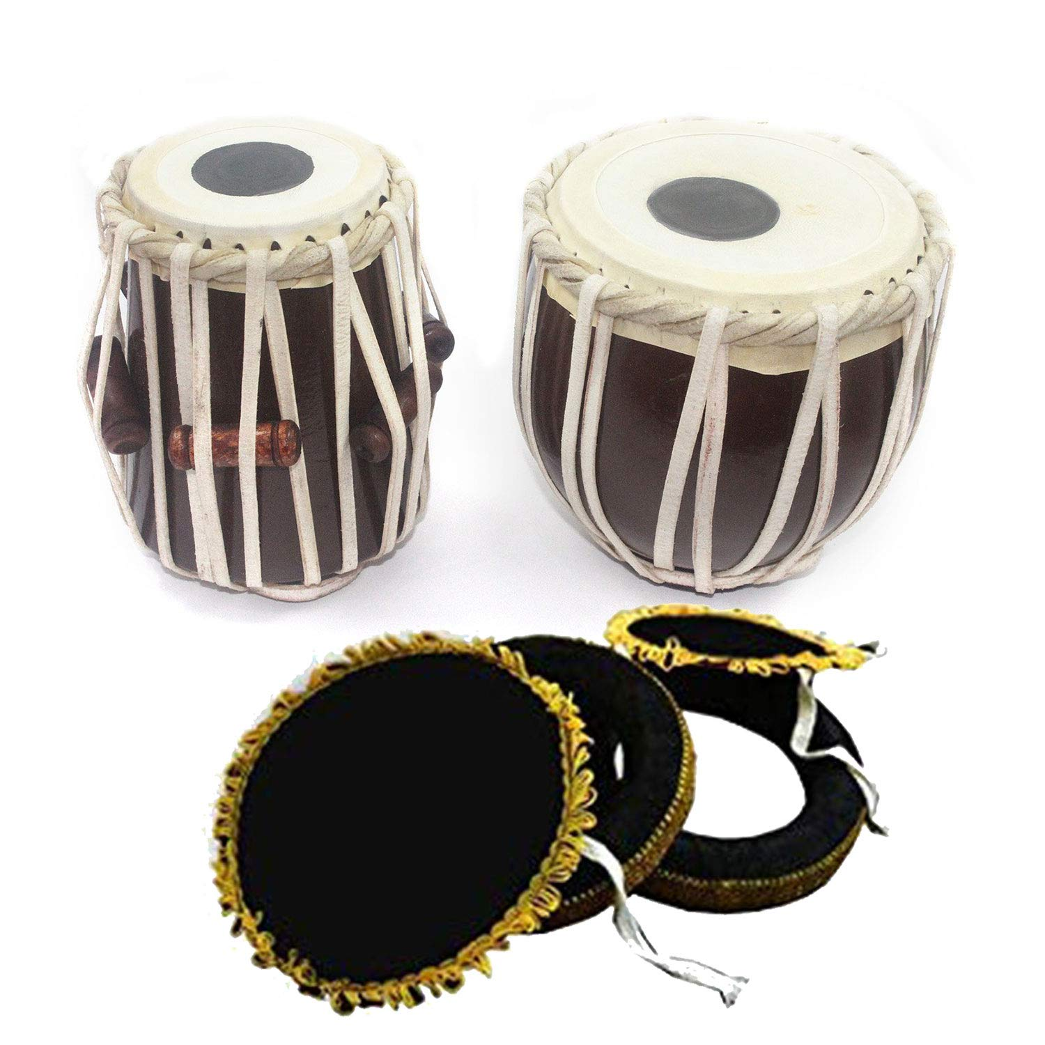 India Meets India Handmade 7'' Inch Tabla Drum Set for Upto 8 Years Kids, Student Tabla Set, Best for Gifting Made by Awarded/Certified Indian Artisians by India Meets India