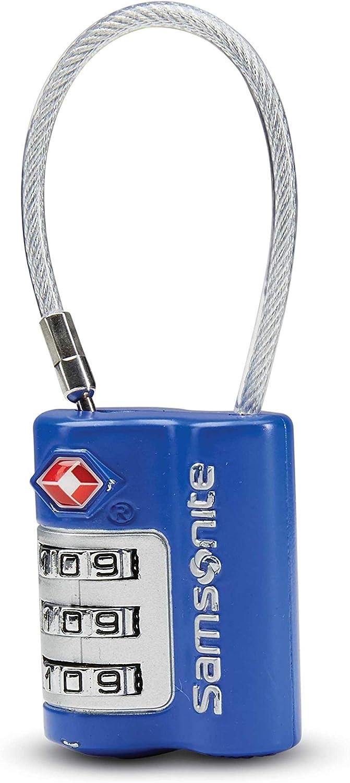 International Carry-on Model: 91166-2228 Blue Fantasy Samsonite 3 Dial TSA Cable Lock
