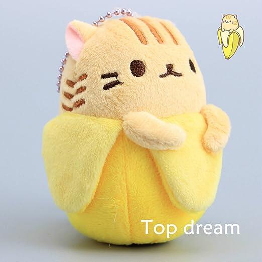 Anime Bananya Banana Cat Plush Toy Soft Stuffed Animal 9cm Keychain Mini Dolls