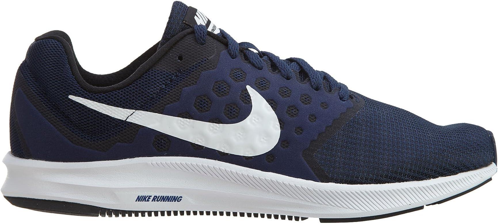 Nike Downshifter 7, Zapatillas de Running Hombre, Azul (Midnight Navy/White/Dark Obsidian/Black), 42 EU: Amazon.es: Zapatos y complementos