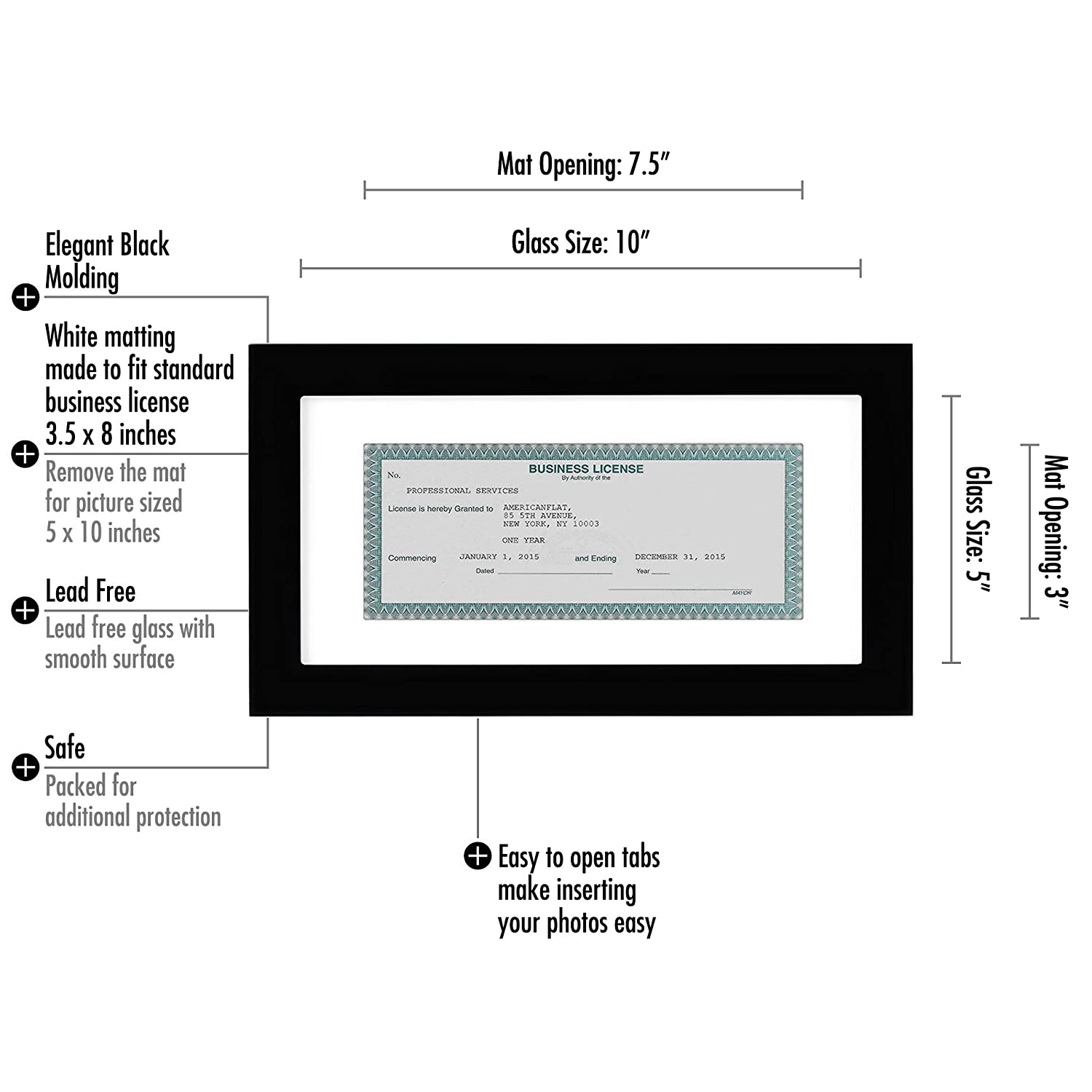Amazon Business License Frame Made For Business Licenses