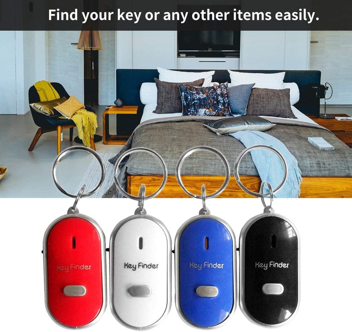 Dynamovolition LED Whistle Key Finder Intermitente Sonido Pitido Control de Alarma Alarma Localizador de Keyfinder Anti-Perdido Rastreador con Llavero