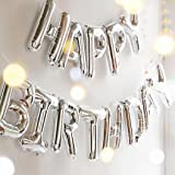 Happy Birthday Balloons, OUTGEEK Foil Balloons Letters Balloons Mylar Balloons for Birthday Party Decoration