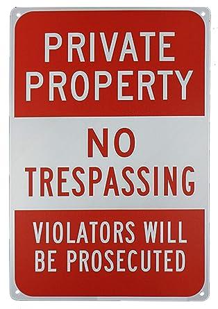 Amazon.com: Monifith Señales de advertencia de propiedad ...