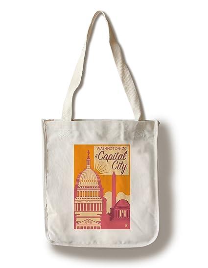 74977b771c6c9 Amazon.com  Lantern Press Washington DC - A Capital City (100% Cotton Tote  Bag - Reusable)  Kitchen   Dining