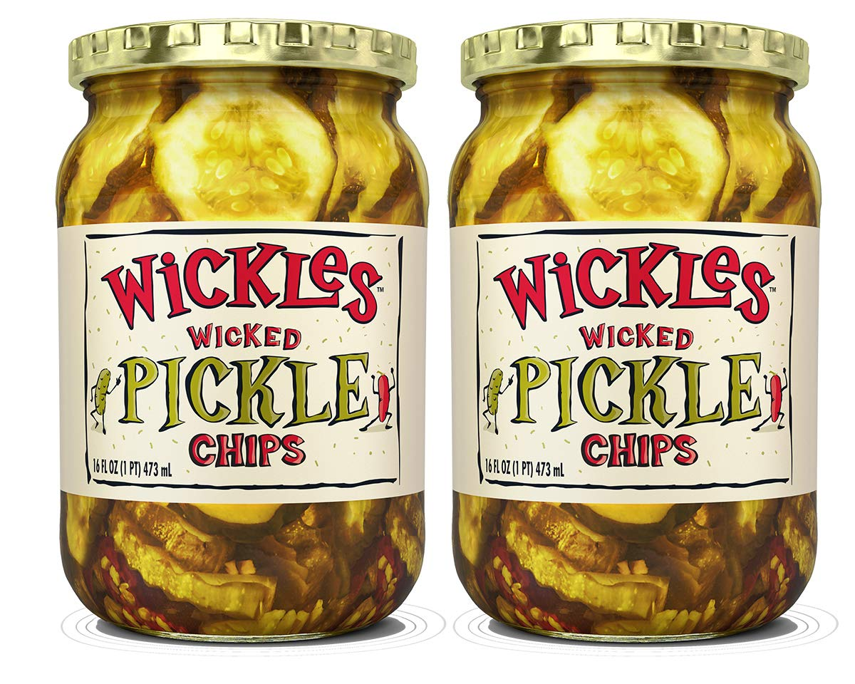 Wickles Wicked Sandwich Chips, 16 OZ (Pack of 2) by Wickles