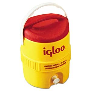Igloo 421 Beverage Cooler, 2 gal, Yellow