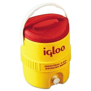 Igloo 421 Beverage Cooler, 2 gal, Yellow