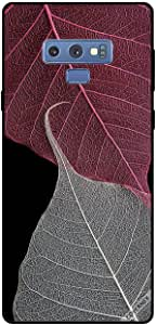 Case For Samsung Galaxy Note9 - HD Grey & Red Leaves