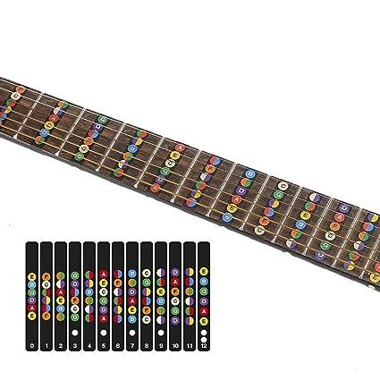 Adhesivos para guitarra de 6 cuerdas, acústica, eléctrica. Mapa ...