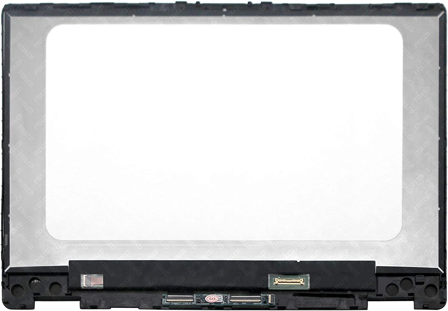Frame Replacement for HP Pavilion X360 HP Pavilion 14-dh0516sa 14-dh0500sa FTDLCD/® 14 inches FHD LCD Display Touch Screen Digitizer Assembly