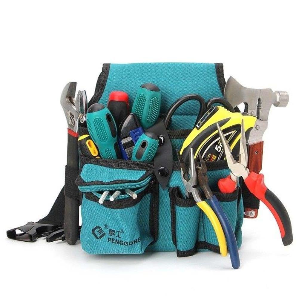 Verschlei/ßfest Und Wiederverwendbar Werkzeugkasten Multifunktions Multi Plugging Tasche Werkzeugtasche Leinwand Hardware Elektriker Kit Verdicken Werkzeugbeutel