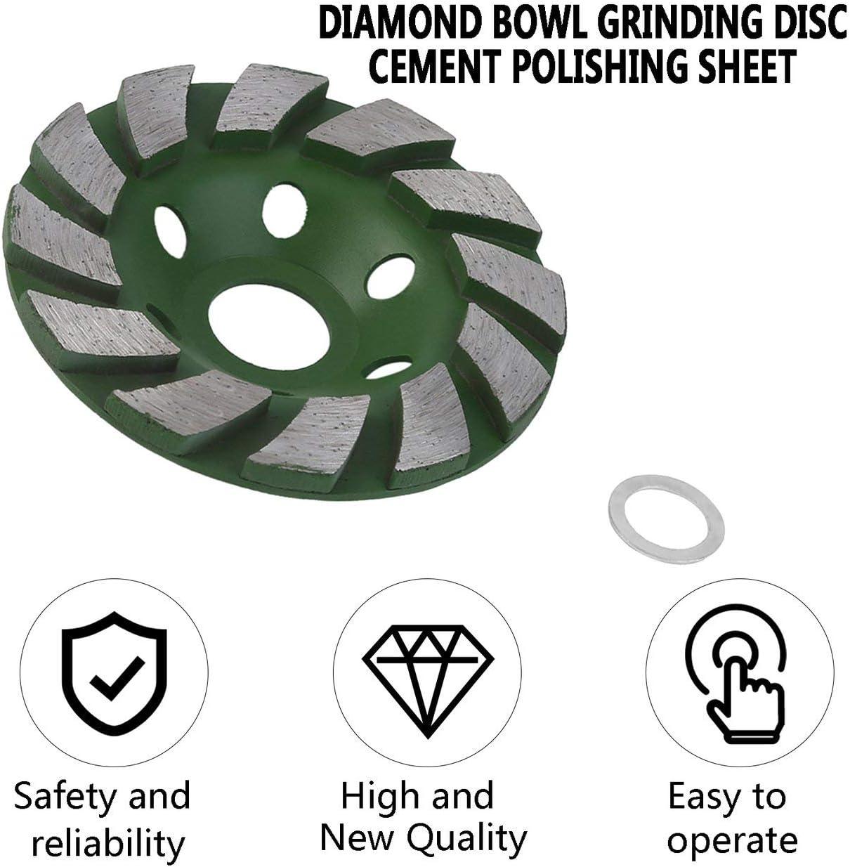 Dailyinshop/® Durable Usage 100mm 4 Pouce Diamant Meule Disque De B/éton Disque En B/éton Ma/çonnerie Pierre Outil Bol Forme Meule Pierre
