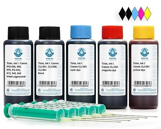 500 ml de recarga de tinta para impresora Canon PGI-550, CLI-551 ...