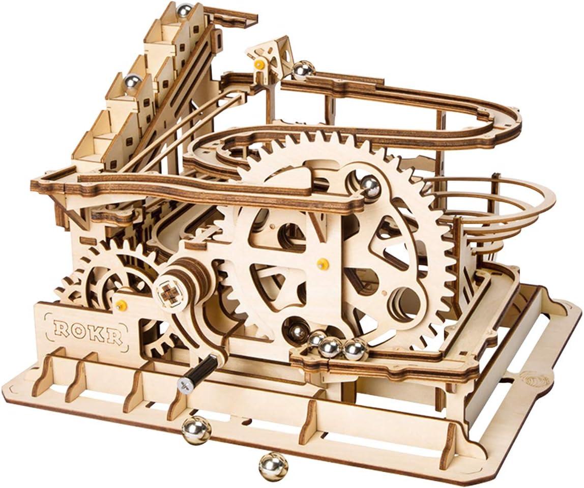 Robotime Laser Cut Puzzle de Madera | Kit de construcción Set Model | Juego de Puzzle en 3D (Waterwheel Coaster)