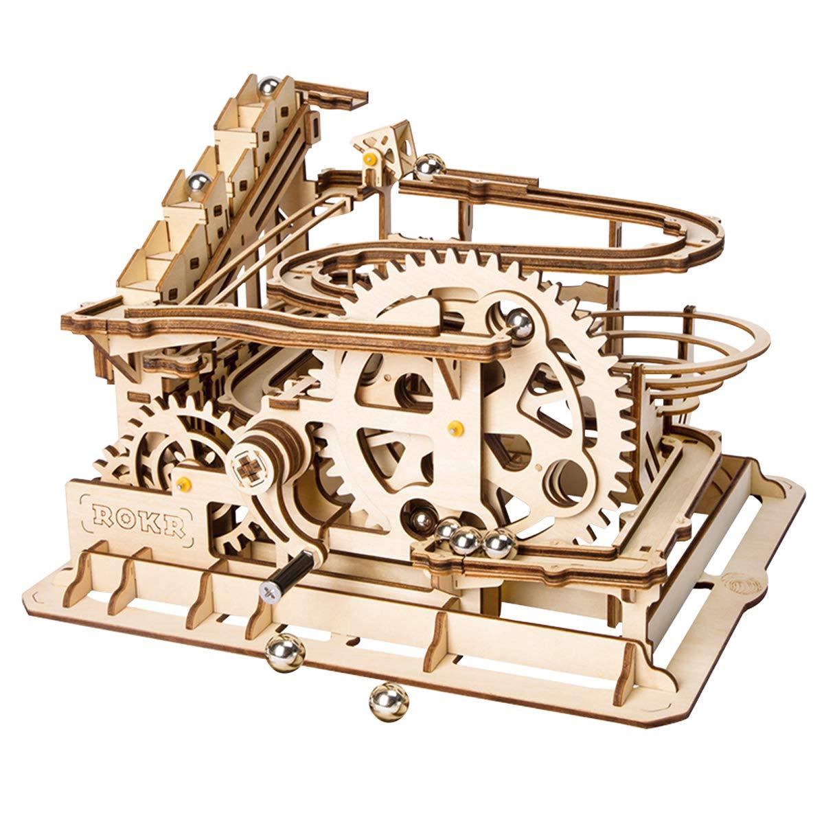 ベストセラー Robotime 3d木製パズルDIYアセンブリのレーザーカットクラフトキットWaterwheel Coaster Robotime withスチールボール 14、大人と子供のベスト誕生日ギフトAge 14 Coaster + B07BFSP8FV, 6DEGREES-ONLINE:be5050d3 --- a0267596.xsph.ru