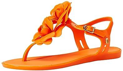 280d82aa8a35 Melissa Shoes Women s Solar Garden Orange Shoe