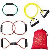 Leesion Resistance band resistance tube rehabilitation band sports belt Pilates fitness equipment 4 sets