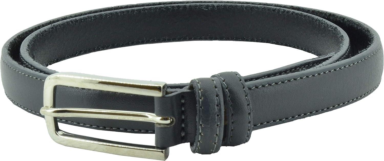 Accorciabile CONTE MASSIMO Cintura Da Donna Sottile In Vero Cuoio alta 2 cm Made in Italy