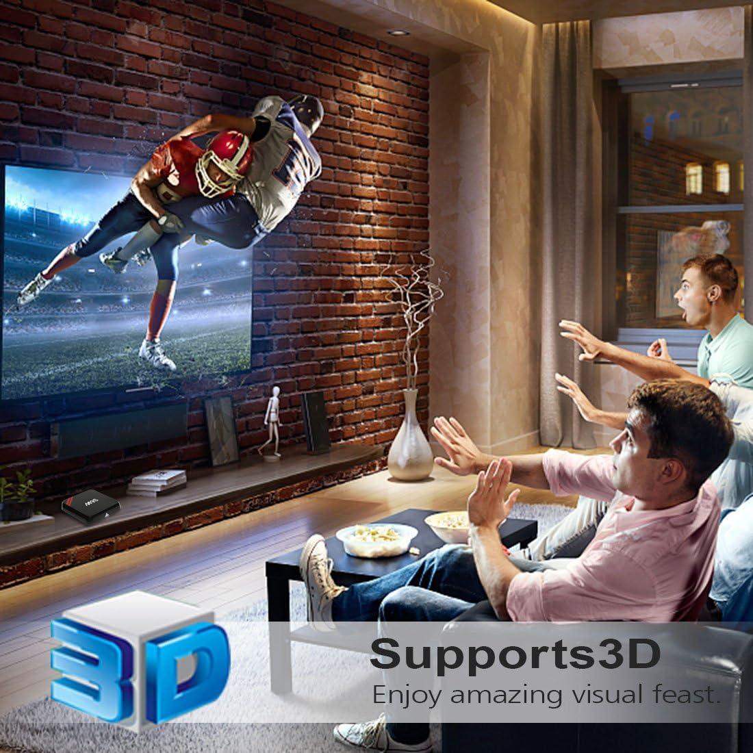 Leelbox M9S Android TV Box, 2GB RAM+16GB ROM Smart TV Box/Dual-WIFI de 2.4GHz y 5.8GHz/BT 4.0/1000M LAN/H.265/4K(60 HZ)/3D/HD: Amazon.es: Electrónica