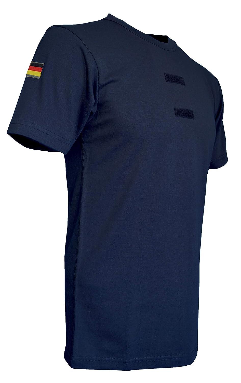 AR TACTICAL GMBH Bundeswehr Tropen T-Shirt mit Deutschlandfahnen und Klettstreifen in, schwarz, oliv und coyote
