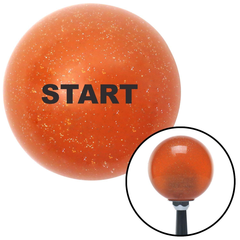 American Shifter 36278 Orange Metal Flake Shift Knob with 16mm x 1.5 Insert Black Start