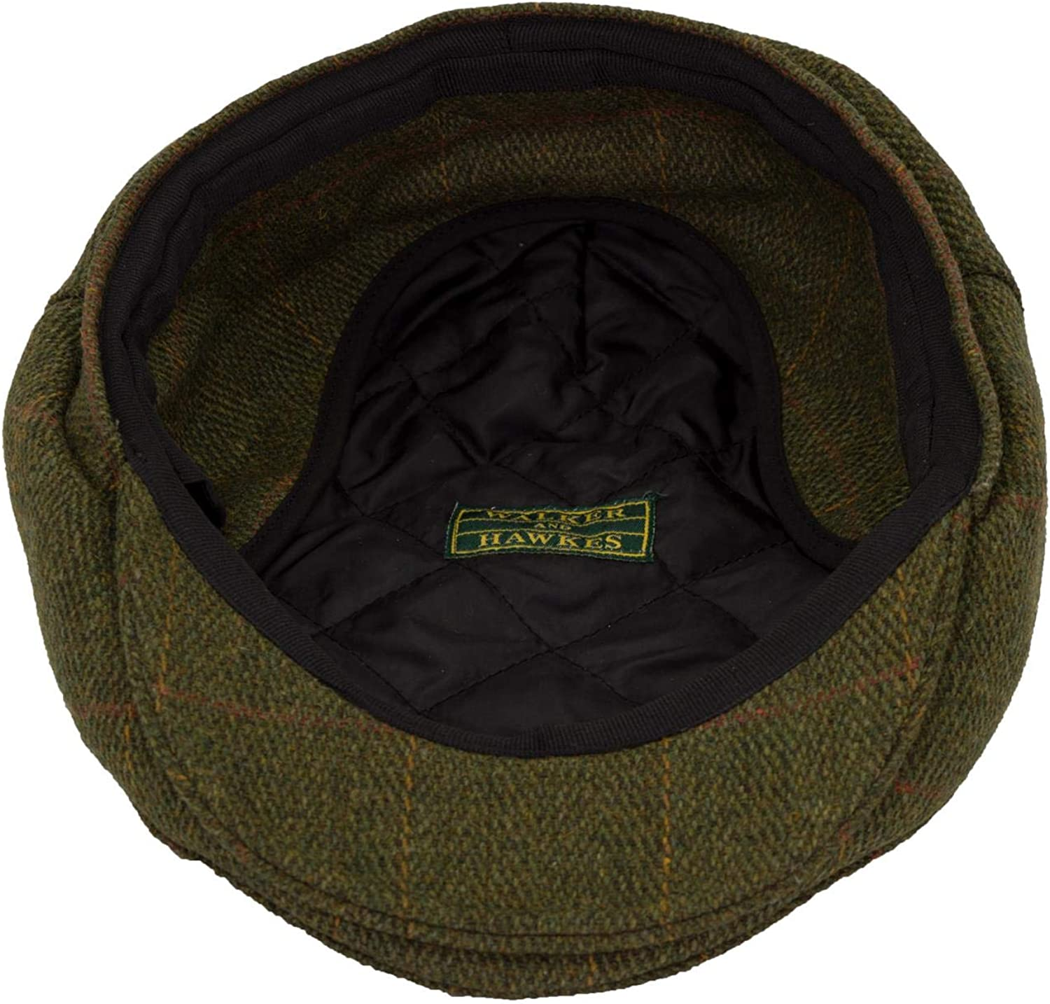 Walker and Hawkes Unisex Tweed Trapper Flat Cap with Foldable Ear Flaps