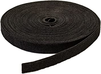 """1//2/"""" Inch Roll Hook and Loop Reusable Cable Ties Wraps Straps 25M 82ft"""