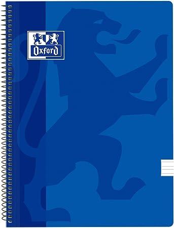 Oxford Classic - Pack de 5 cuadernos espirales, tapa plástico ...