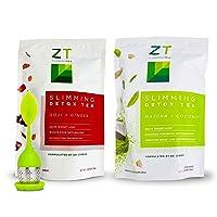 Dr. Zisman ZT Slimming Detox Tea Pack (Goji-Ginger + Matcha Coconut) | Weight Loss...