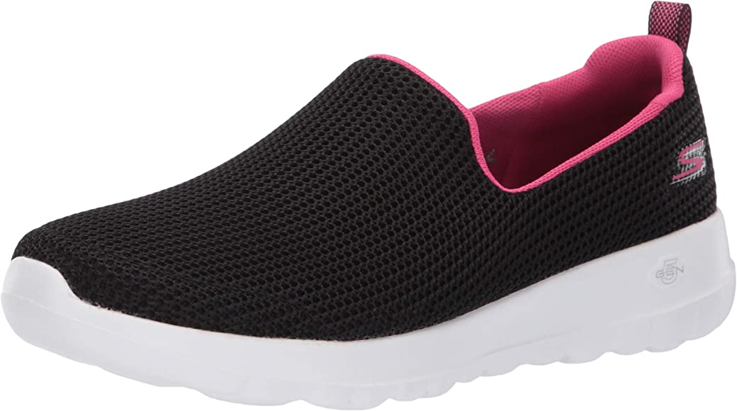 Amazon.com | Skechers Women's GO Walk JOY-15637 Sneaker, Black/hot ...
