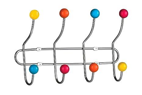 Appendiabiti Da Parete Colorati.Premier Housewares 0509645 Appendiabiti Da Parete Sfere In Ceramica 8 Ganci