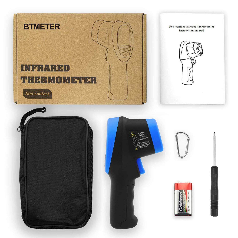 -50 /à 1 500 BTMETER BT-1500 Pistolet pour thermom/ètre laser pyrom/ètre 30: 1 thermom/ètre infrarouge haute temp/érature Indicateur de temp/érature num/érique pour four de fonderie -58-2732