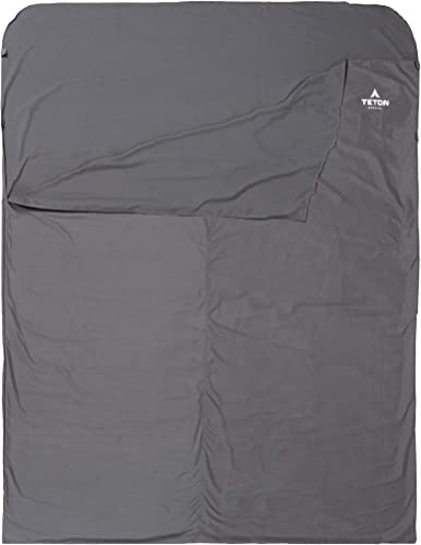 TETON Sports Sleeping Bag Liner A Clean Sheet Set Anywhere You Go Perfect for Travel, Camping, and Anytime You re Away from Home Overnight Machine Washable Travel Sheet Set for Your Sleeping Bag