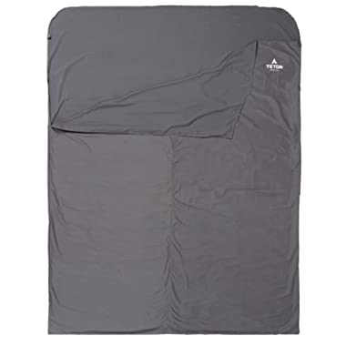 TETON Sports Sleeping Bag Liner; A Clean Sheet Set Anywhere You Go; Perfect for Travel, Camping, and Anytime You're Away from Home Overnight; Machine Washable; Travel Sheet Set for Your Sleeping Bag