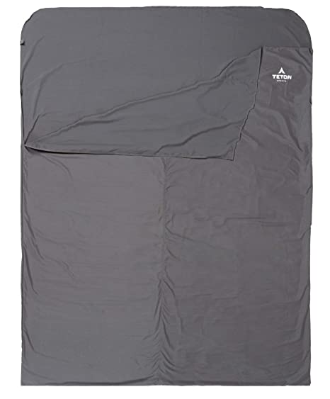 c4d3a180a4 Teton Sports Sleeping Bag Liner; A Clean Sheet Set Anywhere You Go; Perfect  for Travel, Camping, and Anytime You're Away from Home Overnight; ...