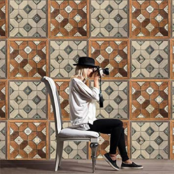 Elegant LJ 50*50cm*2pcs Stück Mediterraner Stil Fliesen Aufkleber Sticker  Folie Selbstklebend Für