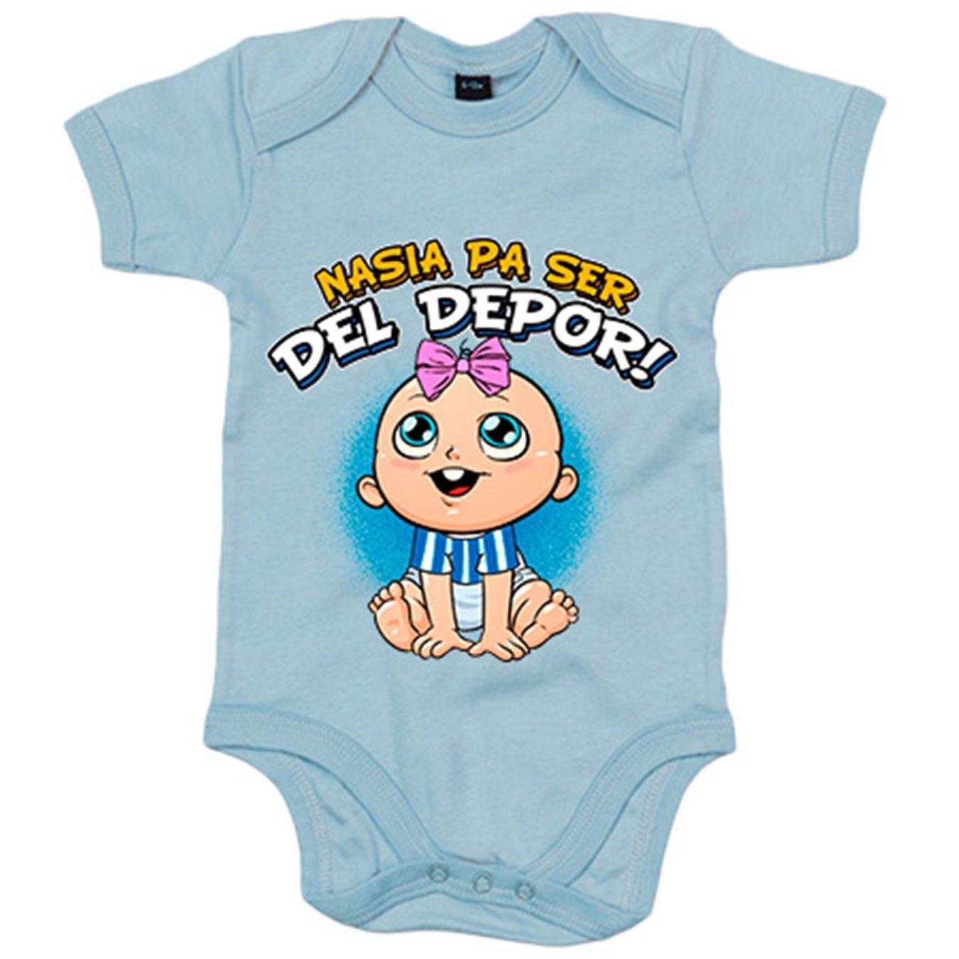 Body bebé nacida para ser del Depor Coruña fútbol - Azul ...