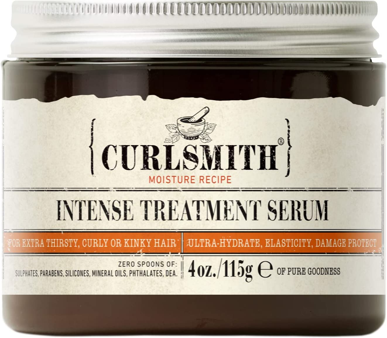 Curlsmith Intense Treatment Serum Tratamiento Suero de Aceite Natural sin enjague para Pelo Rizado