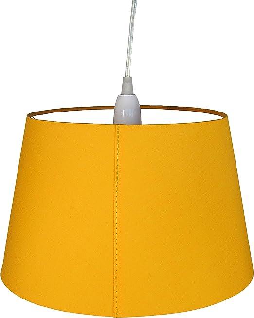 Radiancy Inc - Pantalla para lámpara (algodón, 25,4 cm), Color Mostaza: Amazon.es: Hogar