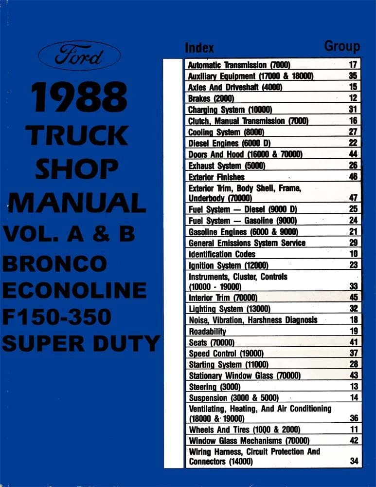 Amazon.com: bishko automotive literature - Shop Service Repair Manual Engine  Drivetrain for The 1988 Ford Truck F150-F350 Econoline: AutomotiveAmazon.com