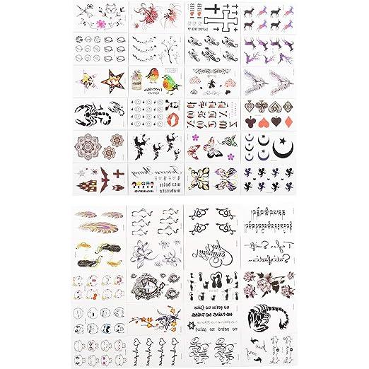HNSYDS Simple Carta Tatuaje Pegatinas Impermeables Hombres Y ...