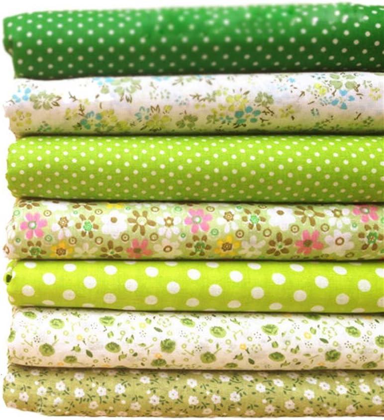 Purple Souarts Floral Cotton Fabric Bundles Quilting Sewing Patchwork Cloths DIY Craft