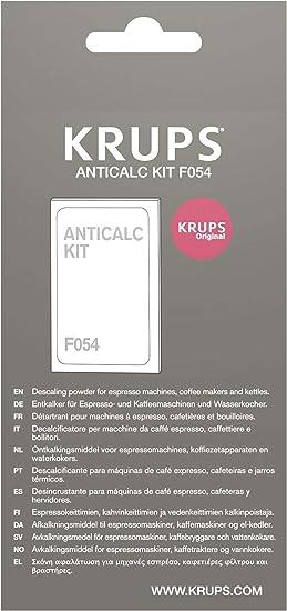 1450 W Negro Acero Inoxidable Plastic Krups EA8108 CAFETERAS F0540010 Kit descalcificaci/ón 1 Cups