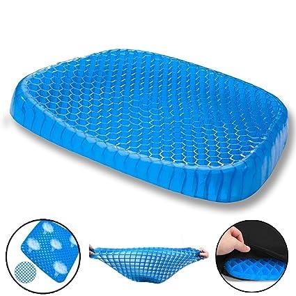 Cojín de gel para asiento GXL, transpirable, diseño de panal que absorbe los puntos