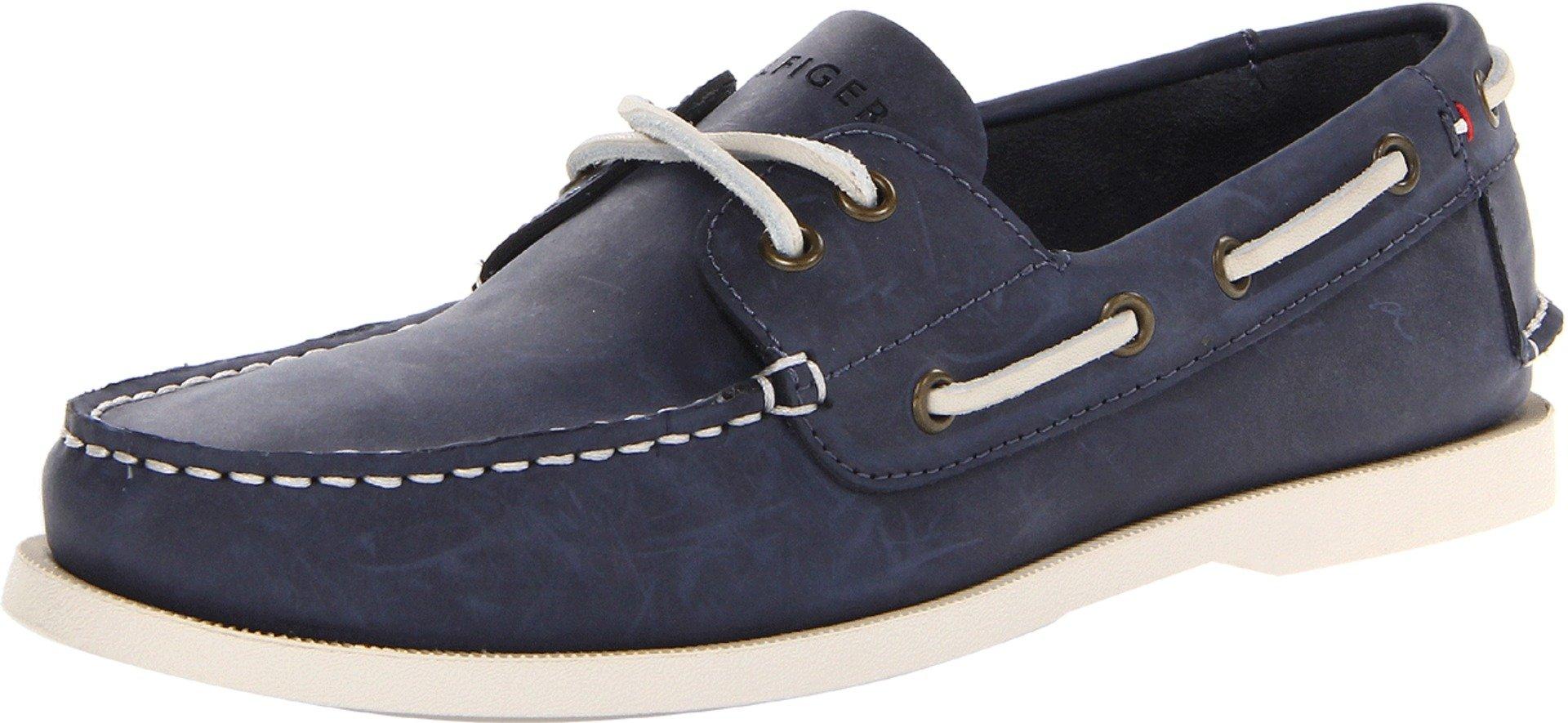 Tommy Hilfiger Men's Bowman Boat shoe, Navy, 10.5 M US