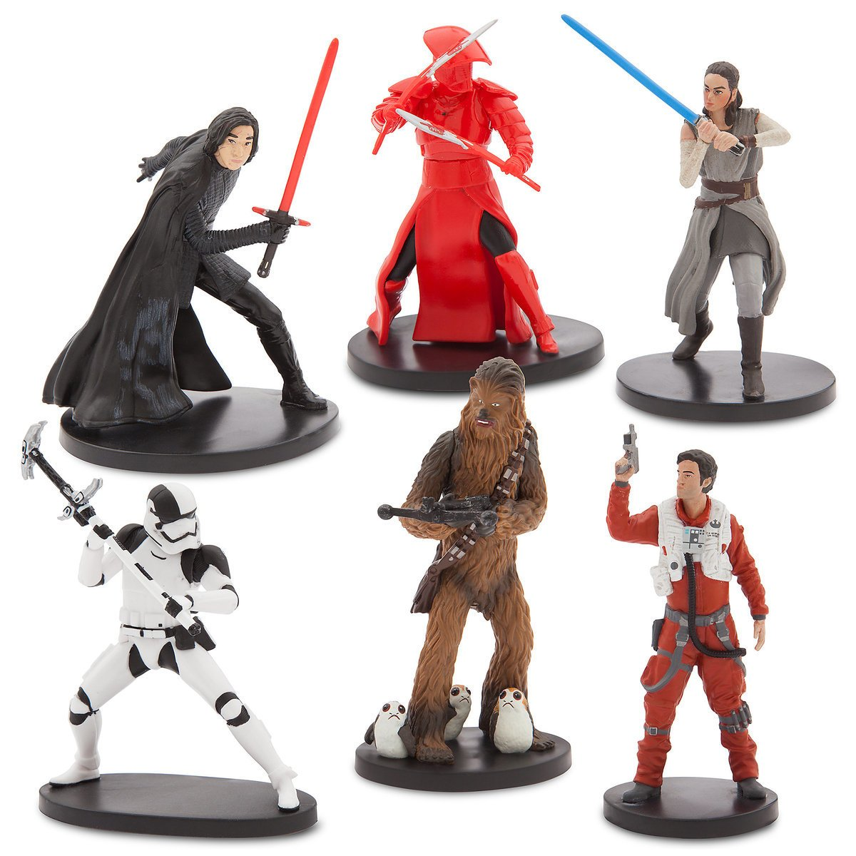 Star Wars The Last Jedi Set of 6 Figures