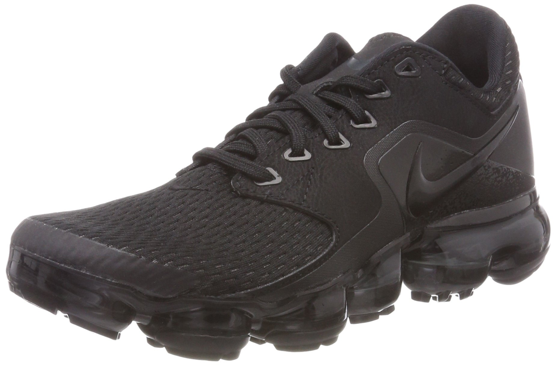 NIKE Kids' Grade School Air Vapormax Running Shoes (Black/Black/Black,5) by NIKE (Image #1)
