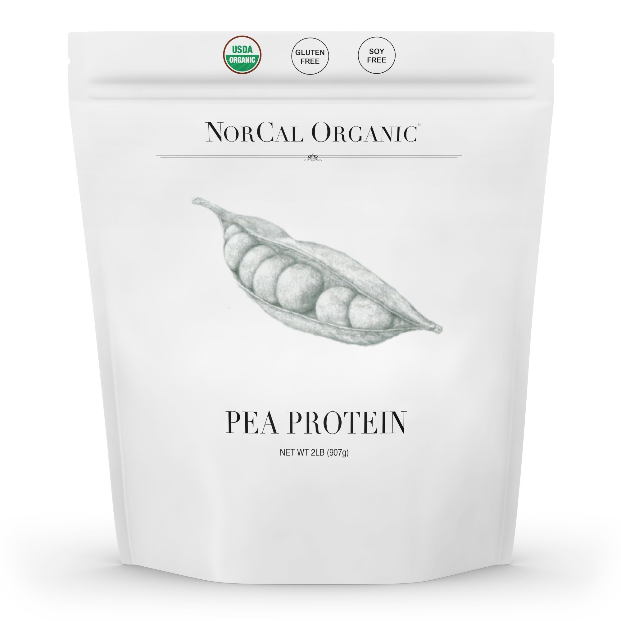 Source Organic - Premium Pea Protein Isolate - 100% Vegan and Organic - UNFLAVORED - Bulk 2lbs by Source Organic