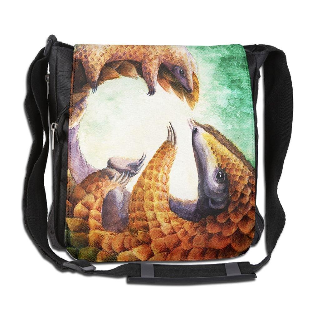 Men Women Classic Pangolins Mom Love Messenger Bag Multifunctional Crossbody Bag Shoulder Bag College Bag For Outdoor Workout Travel